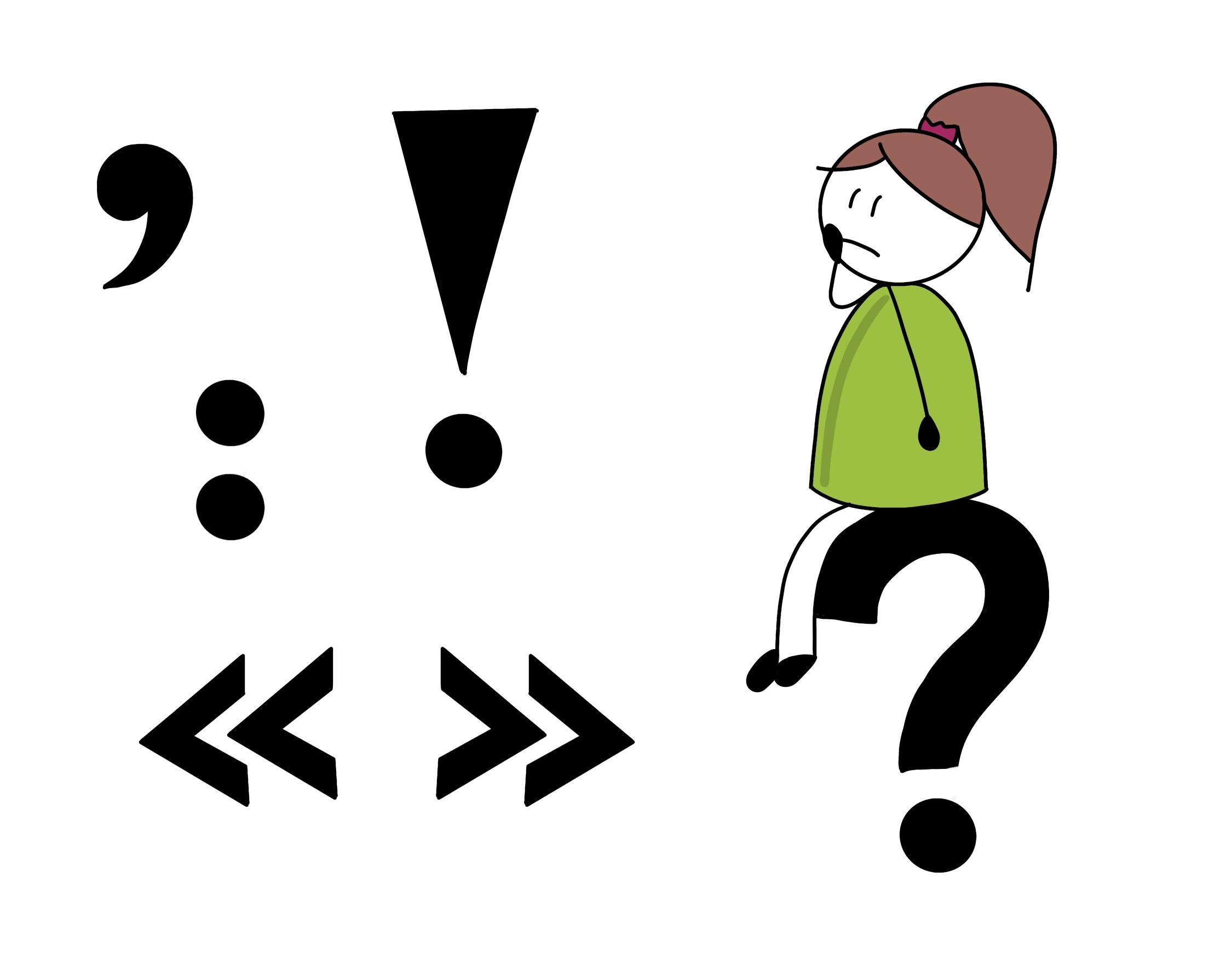 Sketchnote mit Satzzeichen