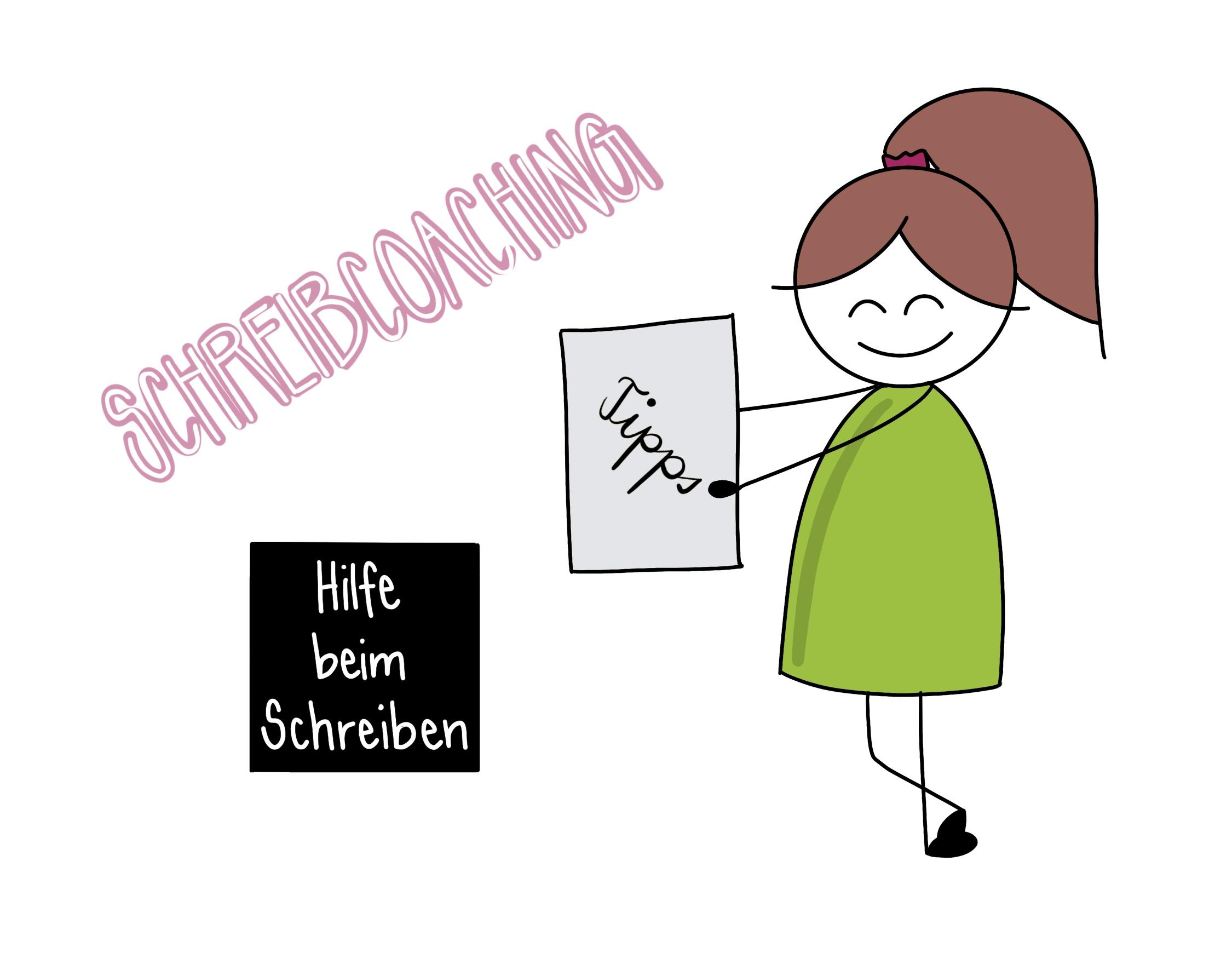 Sketchnote zum Thema Schreibcoaching
